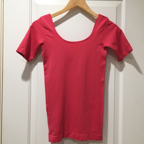 Poof! Tops - Hot Pink Stretchy Top by Poof! Size M/ L